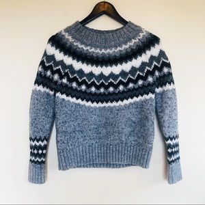 Banana Republic Fair Isle Wool Blend Sweater XS